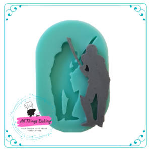 Silicone Mould - Cricket Silhouette