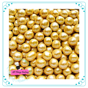 Sugar Pearls - Gold Shimmer 6mm