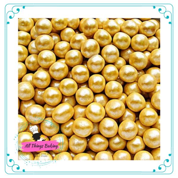 Sugar Pearls - Gold Shimmer 6mm