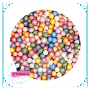 Sugar Pearls - Rainbow Shimmer 6mm