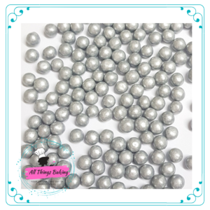 Sugar Pearls -Silver Shimmer 6mm