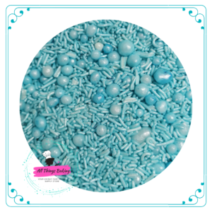 Mixed Sprinkles 100ml - Baby Blue