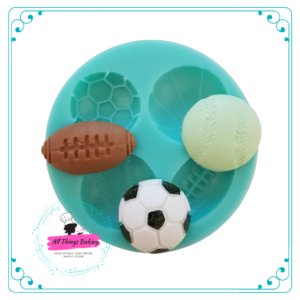 Silicone Mould - Sports Balls Multimould