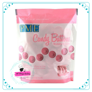 Candy Buttons - Pink (340g)