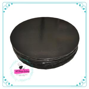 Cake Board Round Black