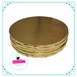 Cake Board Round Gold