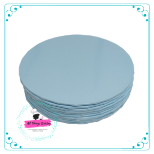 Cake Board Round Light Blue