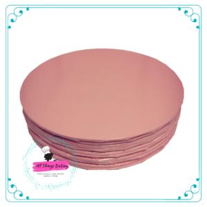 Cake Board Round Light Pink