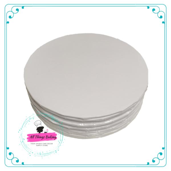 Cake Board Round White