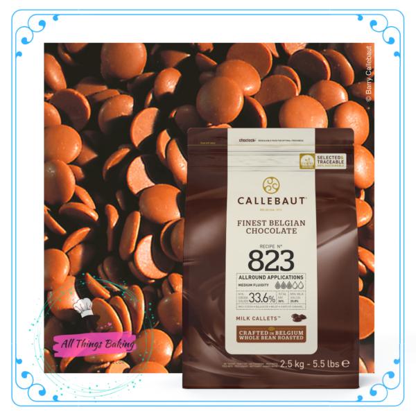 Callebaut Callets - 823 (33.6%) Milk Chocolate 2.5kg