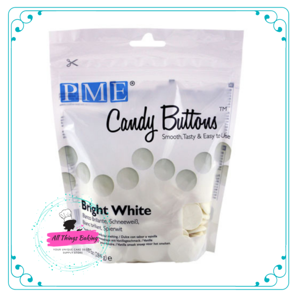 Candy Buttons - White