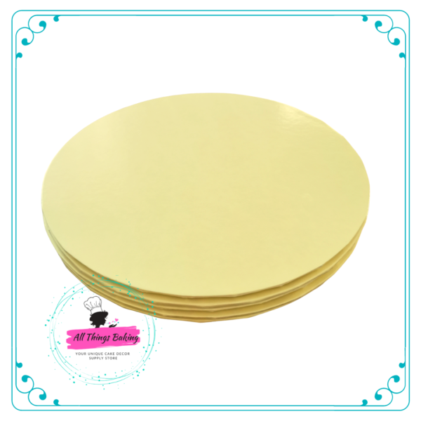 Cake Board Round Pale Yellow