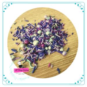 Themed Sprinkles 100ml - Purple Shades of Christmas