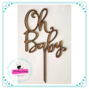 Cake Topper 15cm - Oh Baby v2