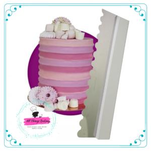 Cake Scraper (350mm) Ribbed