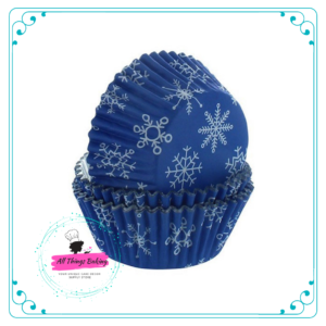 Foil Lined Snowflake Baking Case