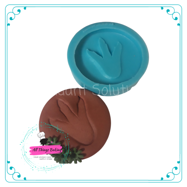 Silicone Mould - Dino Footprint