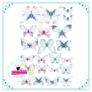 Wafer Paper Butterflies - Wild