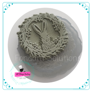 Silicone Mould - Bunny and Wreath Disc