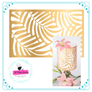 Wafer Paper Overlay 8 - Gold