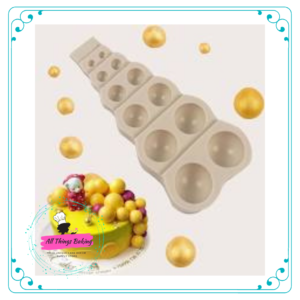 Halve Sphere Mould - 6 Sizes in one