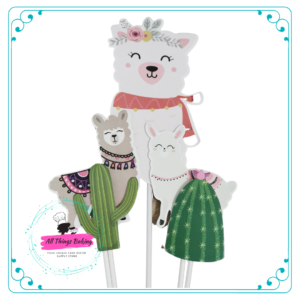 Llama Cake Toppers (pack of 5)