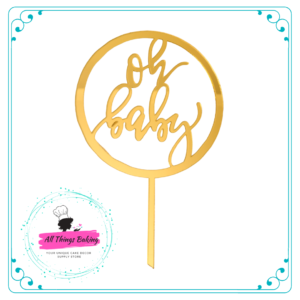 Cake Topper 15cm - Oh Baby
