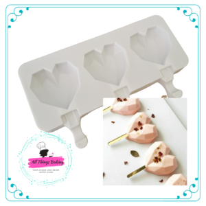 Cakesickle Mould - Geode Hearts