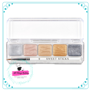 Water Activated Paint Palette - Metallics