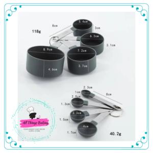 Measuring Spoon Set 8pc - Silver