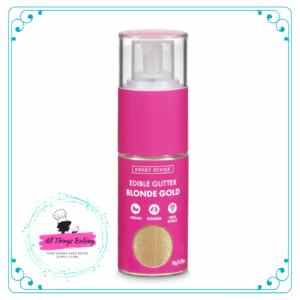 Edible Glitter Pump - Blonde Gold