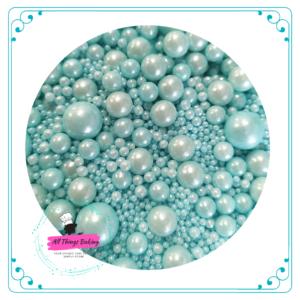 Mixed Sugar Pearls - Baby Blue