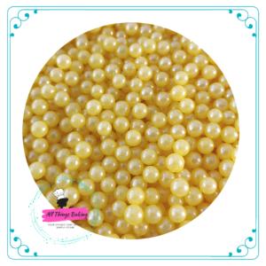 6mm Sugar Pearls - Yellow