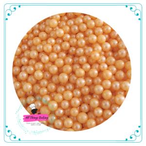 6mm Sugar Pearls - Apricot