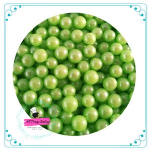 6mm Sugar Pearls - Apple Green