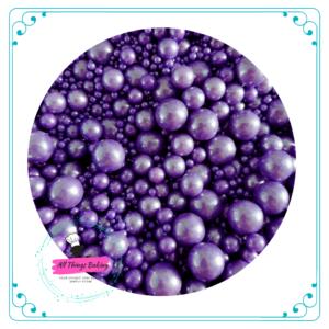 Mixed Sugar Pearls - Purple