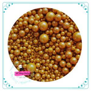 Mixed Sugar Pearls - Gold