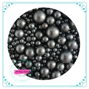Mixed Sugar Pearls - Black