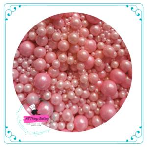 Mixed Sugar Pearls - Pink