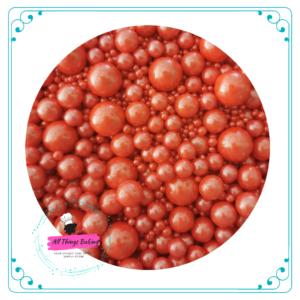 Mixed Sugar Pearls - Red