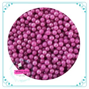 6mm Sugar Pearls - Fuschia