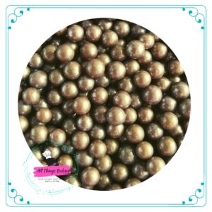 6mm Sugar Pearls - Brown