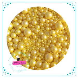Mixed Sugar Pearls - Yellow