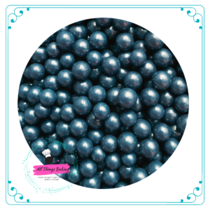 6mm Sugar Pearls - Navy