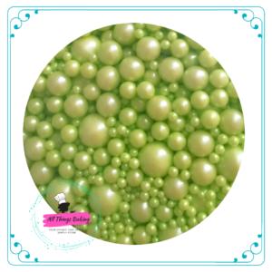 Mixed Sugar Pearls - Lime