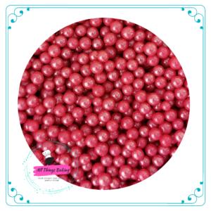 6mm Sugar Pearls - Rose