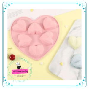 Geode Heart Cupcake Mould