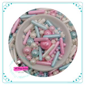 Pearls Rods and Confetti Mix - Cotton Candy