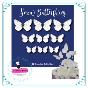Wafer Paper Butterflies - Snow